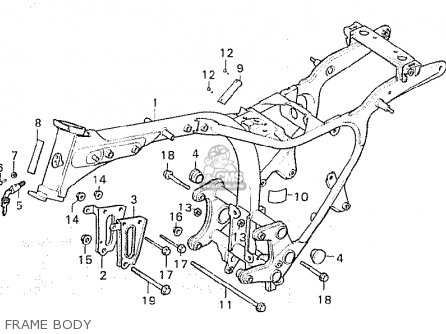 Honda Cx500c Custom 1981 b Denmark Frame Body