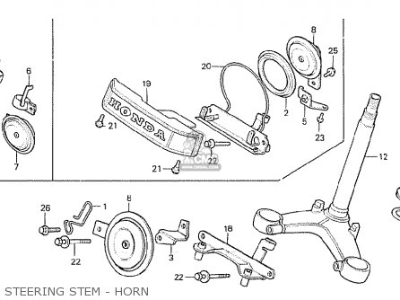 Honda Cx500c Custom 1981 b Denmark Steering Stem - Horn