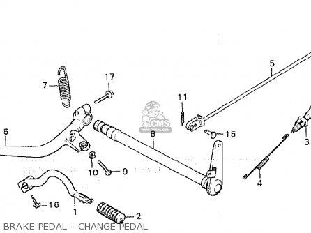 Honda Cx500c Custom 1981 b European Direct Sales Brake Pedal - Change Pedal
