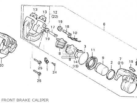 Honda Cx500c Custom 1981 b European Direct Sales Front Brake Caliper