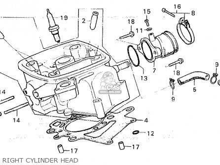 Honda Cx500c Custom 1981 b European Direct Sales Right Cylinder Head