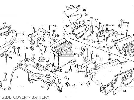 Honda Cx500c Custom 1981 b European Direct Sales Side Cover - Battery