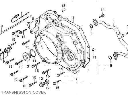Honda Cx500c Custom 1981 b European Direct Sales Transmission Cover