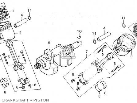 Honda Cx500c Custom 1981 b France Crankshaft - Piston