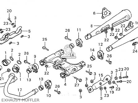 Honda Cx500c Custom 1981 b France Exhaust Muffler