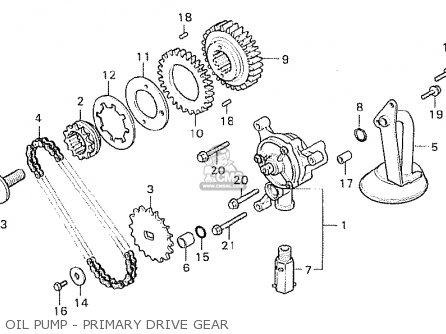Honda Cx500c Custom 1981 b France Oil Pump - Primary Drive Gear