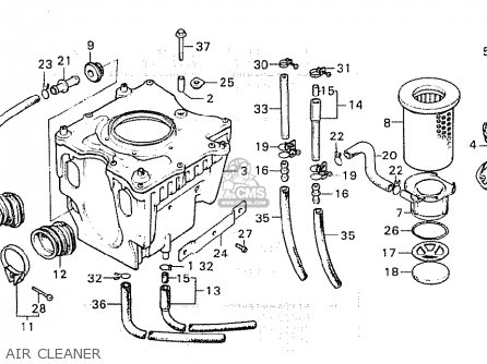 Honda Cx500c Custom 1981 b Germany   Full Power Air Cleaner