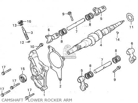 Honda Cx500c Custom 1981 b Germany   Full Power Camshaft - Lower Rocker Arm