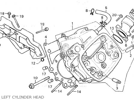 Honda Cx500c Custom 1981 b Germany   Full Power Left Cylinder Head