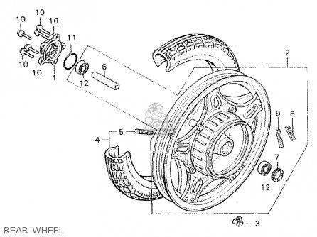 Honda Cx500c Custom 1981 b Germany   Full Power Rear Wheel