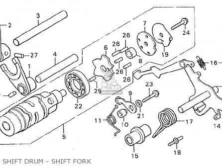 Honda Cx500c Custom 1981 b Germany   Full Power Shift Drum - Shift Fork