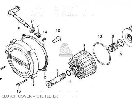 Honda Cx500c Custom 1981 b Italy Clutch Cover - Oil Filter