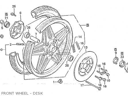 Honda Cx500c Custom 1981 b Italy Front Wheel - Disk