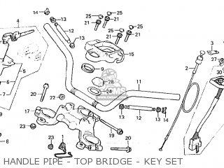Honda Cx500c Custom 1981 b Italy Handle Pipe - Top Bridge - Key Set