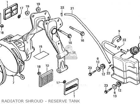 Honda Cx500c Custom 1981 b Italy Radiator Shroud - Reserve Tank