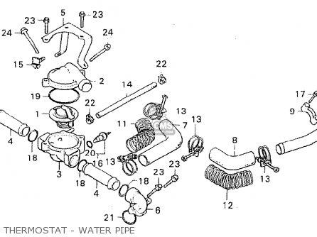 Honda Cx500c Custom 1981 b Italy Thermostat - Water Pipe
