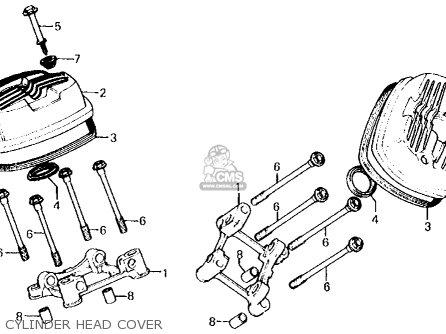 Honda Cx500c Custom 1981 b Usa Cylinder Head Cover