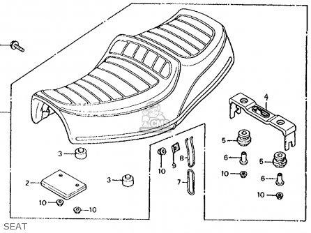 Honda Cx500c Custom 1981 b Usa Seat