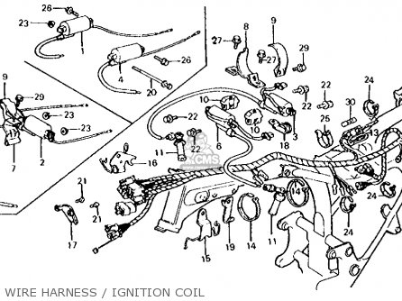Honda Cx500c Custom 1981 b Usa Wire Harness   Ignition Coil