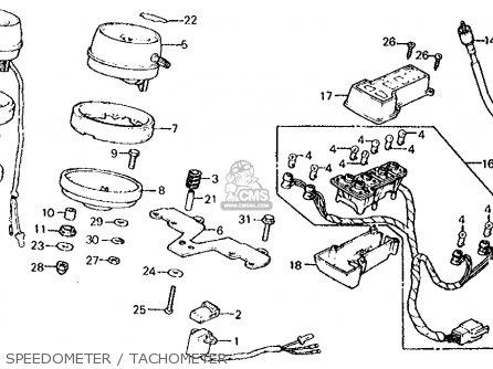 Honda Cx500c Custom 1982 Usa Speedometer   Tachometer