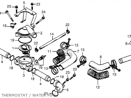Honda Cx500d Deluxe 1979 z Usa Thermostat   Water Pipe