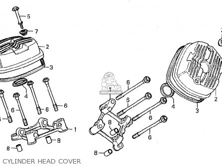 Honda Cx500d Deluxe 1980 a Canada Cylinder Head Cover