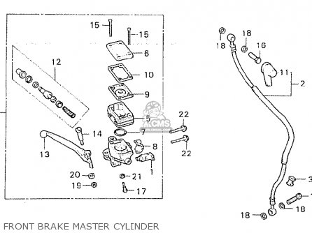 Honda Cx500d Deluxe 1980 a Canada Front Brake Master Cylinder