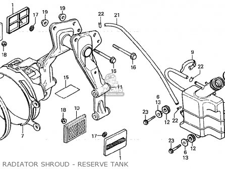 Honda Cx500d Deluxe 1980 a Canada Radiator Shroud - Reserve Tank