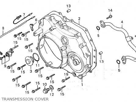 Honda Cx500d Deluxe 1980 a Canada Transmission Cover