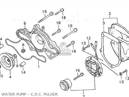 Honda Cx500d Deluxe 1980 a Canada Water Pump - C d i  Pulser