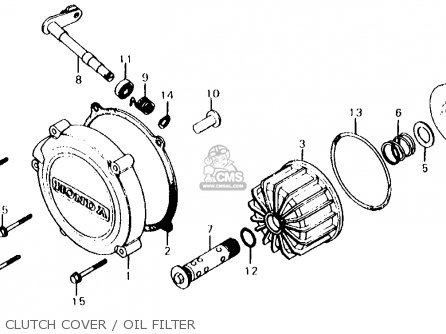 Honda Cx500d Deluxe 1980 a Usa Clutch Cover   Oil Filter