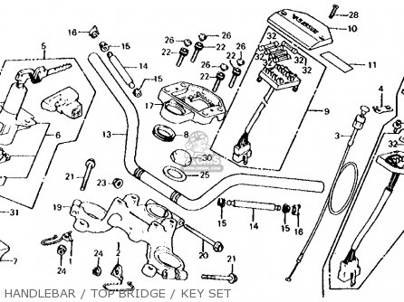 Honda Cx500d Deluxe 1980 a Usa Handlebar   Top Bridge   Key Set