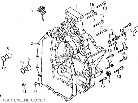 Honda Cx500d Deluxe 1980 a Usa Rear Engine Cover