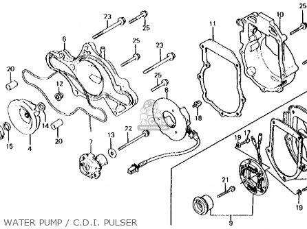 Honda Cx500d Deluxe 1980 a Usa Water Pump   C d i  Pulser