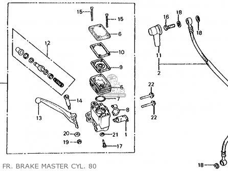 Honda Cx500d Deluxe 1980  A Usa Fr  Brake Master Cyl  80