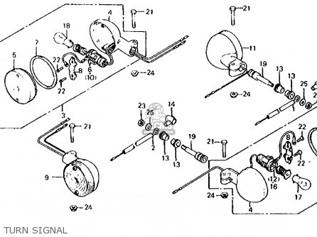 Honda Cx500d Deluxe 1980  A Usa Turn Signal