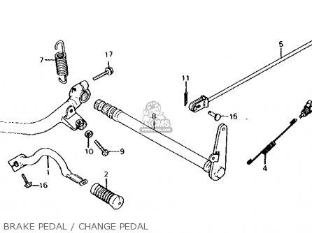 Honda Cx500d Deluxe 1981 b Usa Brake Pedal   Change Pedal