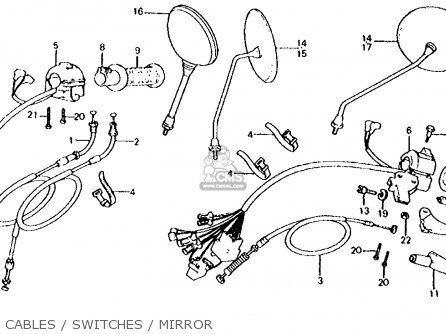 Honda Cx500d Deluxe 1981 b Usa Cables   Switches   Mirror