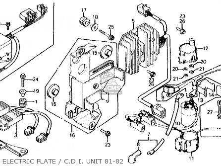 Honda Cx500d Deluxe 1981 b Usa Electric Plate   C d i  Unit 81-82