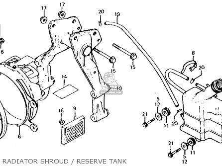 Honda Cx500d Deluxe 1981 b Usa Radiator Shroud   Reserve Tank
