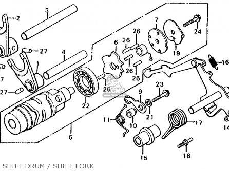 Honda Cx500d Deluxe 1981 b Usa Shift Drum   Shift Fork
