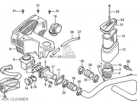 Honda Cx500t Turbo 1982 c Australia Air Cleaner