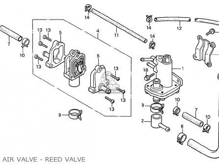 Honda Cx500t Turbo 1982 c Australia Air Valve - Reed Valve