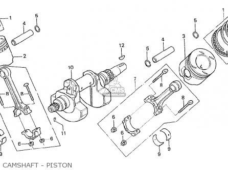 Honda Cx500t Turbo 1982 c Australia Camshaft - Piston
