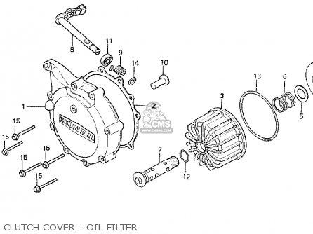 Honda Cx500t Turbo 1982 c Australia Clutch Cover - Oil Filter
