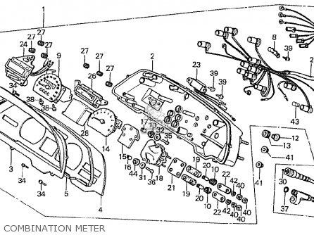 Honda Cx500t Turbo 1982 c Australia Combination Meter