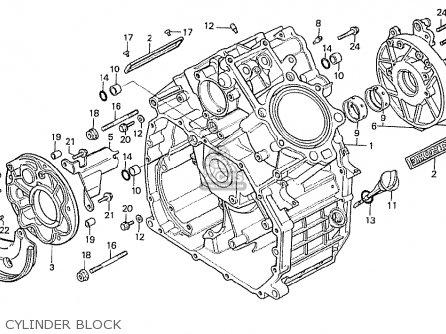 Honda Cx500t Turbo 1982 c Australia Cylinder Block
