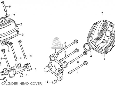 Honda Cx500t Turbo 1982 c Australia Cylinder Head Cover