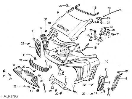 Honda Cx500t Turbo 1982 c Australia Fairing