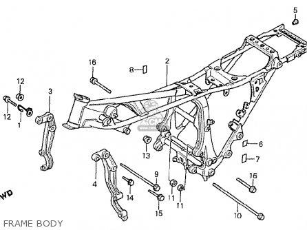 Honda Cx500t Turbo 1982 c Australia Frame Body